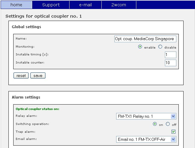 NC06 - SNMP GPIO Device - screenshot