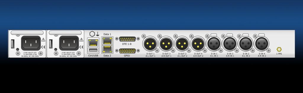 MM04C - 4 ch Audio over IP Codec - Rear