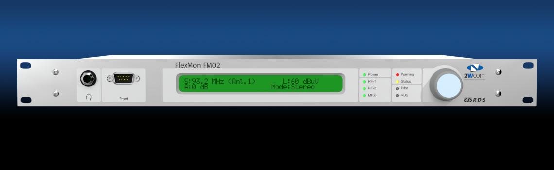 FlexMon FM02 Professional FM Monitoring Receiver - front
