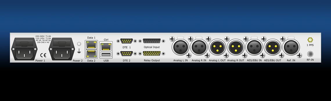 MM01 - multi-format Duplex AoIP (Audio over IP) Coder/Decoder- rear