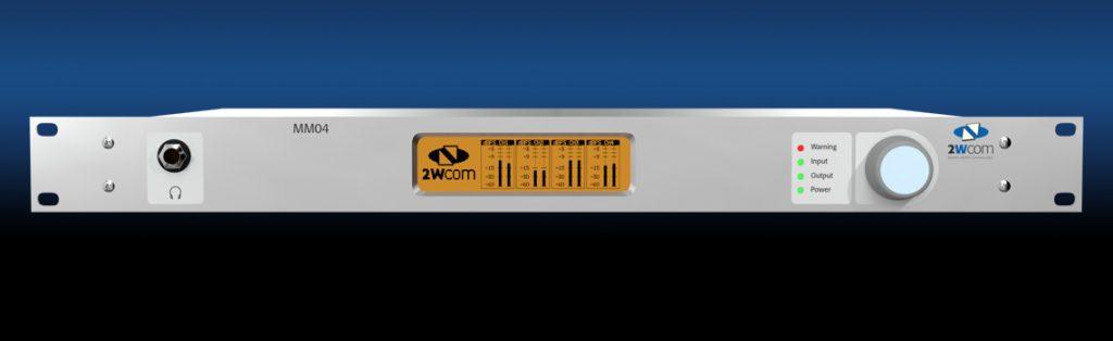 MM04C - 4 ch Audio over IP Codec - Front