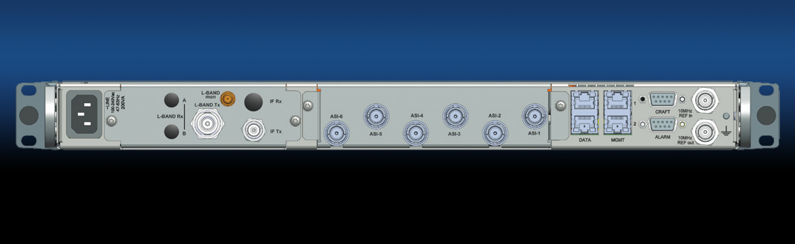 Newtec M6100 - Satellite Modulator- rear